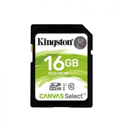 Tarjeta SD Kingston 16GB CANVAS Select